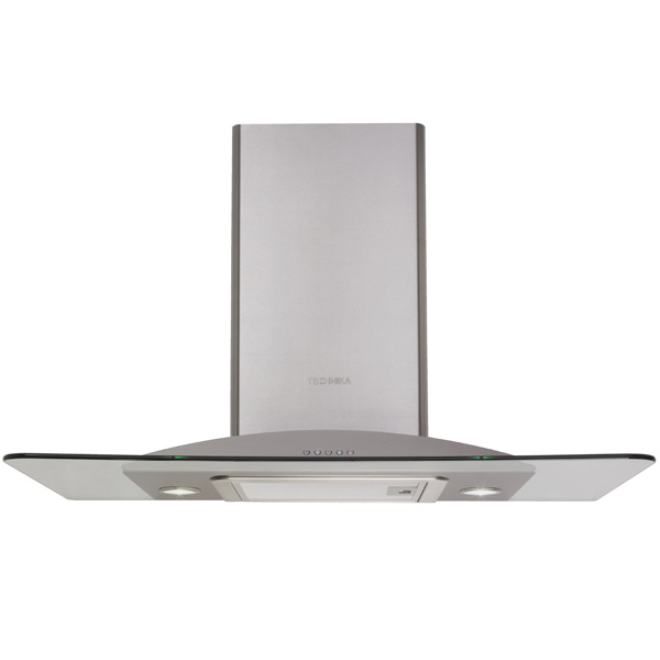 900mm stainless steel and glass canopy rangehood